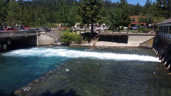 Lake Tahoe Dam in Tahoe City, California