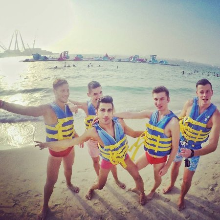 ‪Dubai Aqua Park, The Beach‬