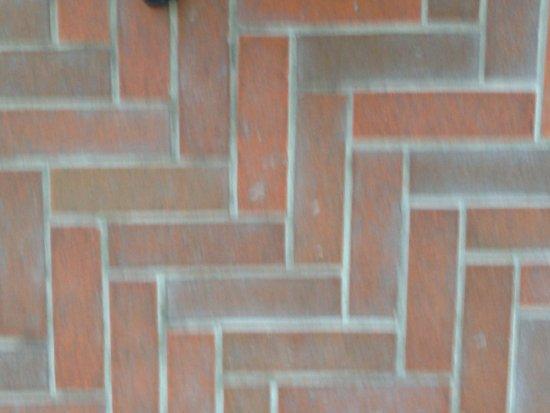 New Canaan, CT: Brick floor of Philip Johnson's Glass House