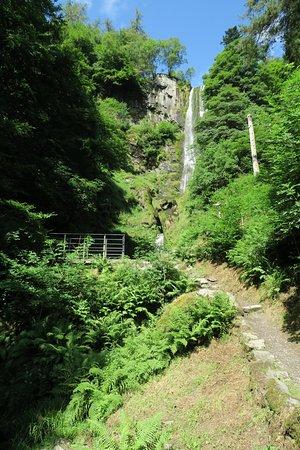 Llanrhaeadr ym Mochnant, UK: Photo of falls taken from bridge