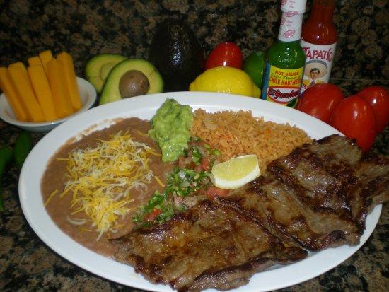 Norwalk, CA: Carne Asada: 10 oz. marinated grilled steak  served with tortillas