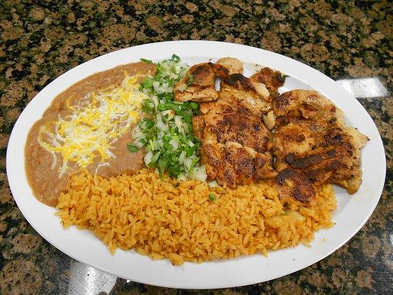 Norwalk, CA: Grilled Chicken: 10 oz. citrus marinated grilled  chicken served with tortillas