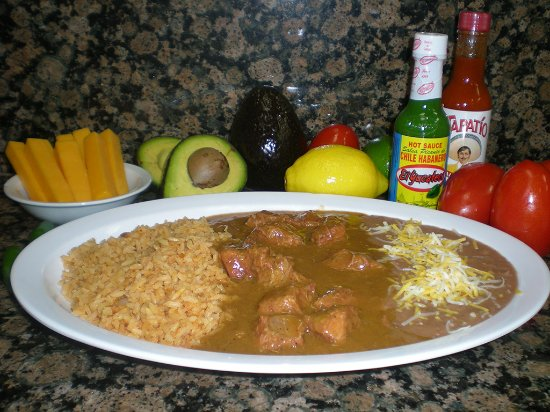 Norwalk, CA: Chile Colorado: Chunks of beef in a Red Chile sauce, served with tortillas