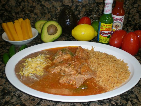 Norwalk, CA: Chile Verde: Chunks of pork in a Green Chile sauce, served with tortillas