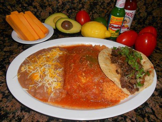 Norwalk, CA: Chile Relleno (1)  & Taco (1)