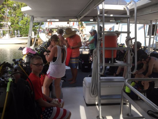 Tavernier, FL: Headed out for our final dive!