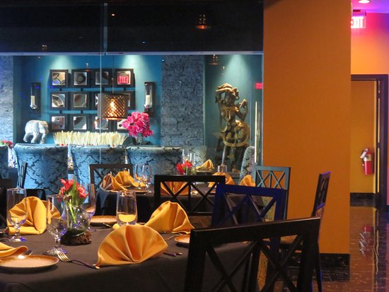 Monmouth Junction, NJ: The private dining room seen in blue