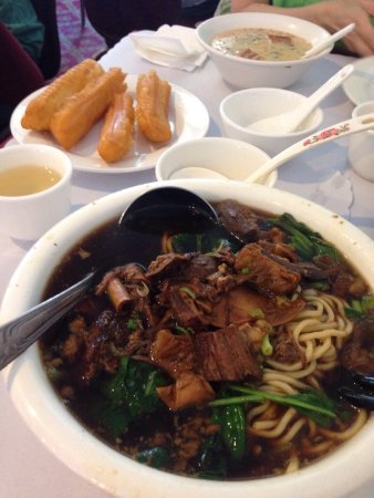 San Mateo, CA: Beef noodle bread sticks and soy curd