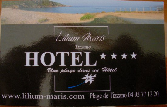 Lilium Maris: the business card of the Hotel