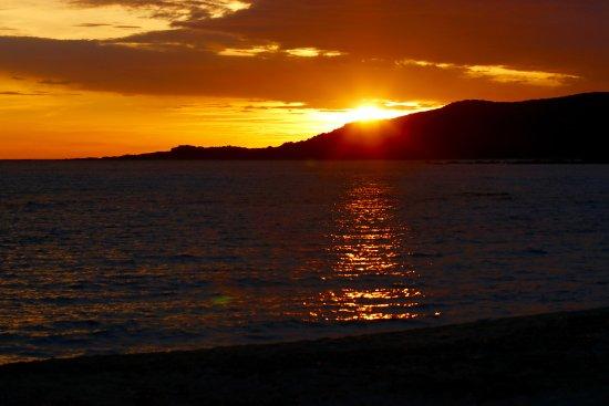 Lilium Maris: sunset at the Beach of Hotel Lillum Maris, at 8:35 PM