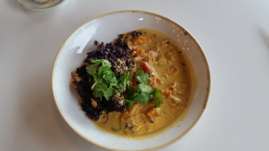 Everly: butternut squash and forbidden rice curry