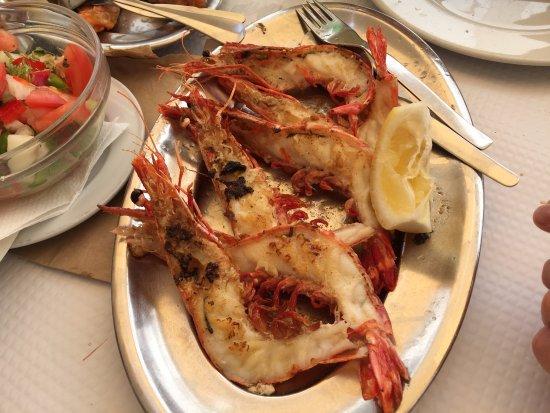 Restaurante Marisqueira Rui: Grilled medium prawns!!