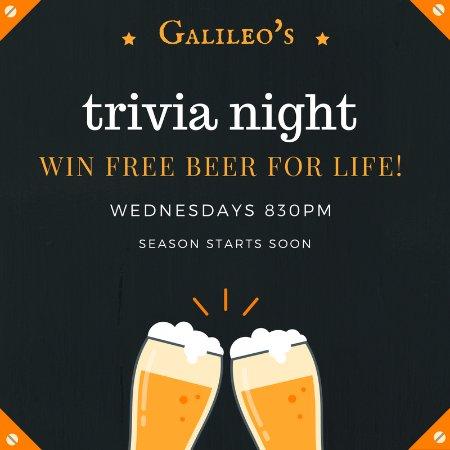 Galileo's: Every Wednesday at 8:30!