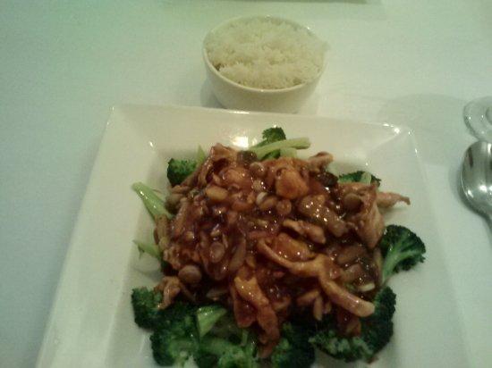Jade Bistro: Szechuan Chicken with rice