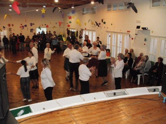 Moncarapacho, Portugal: A demonstration by the Scottish Country Dancing Group