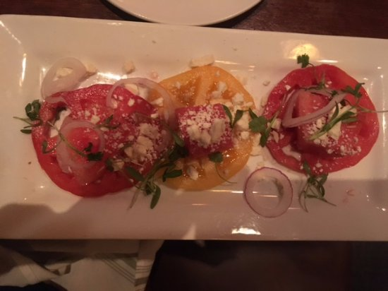 Watermelon & Heirloom Tomato Salad