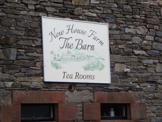 Lorton, UK: Sign outside the tea rooms