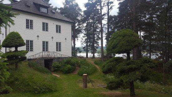 Leksand, Suède : Utsikt från Hildasholm (juli 2017).