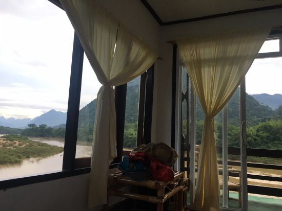 Muang Ngoi Neua, Laos: Great view, simple accomodations