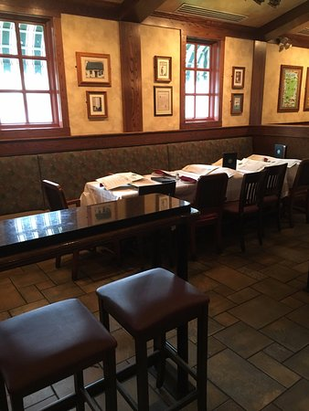 Billerica, MA: Table set up in Bar for our group of ten