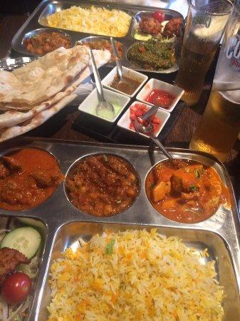 Archana: Meat Thali and Vegetarian Thali