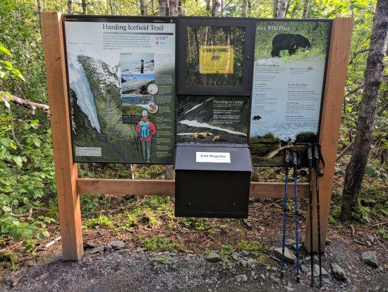 Kenai Fjords National Park, Alaska: Registration box to be filled by hikers