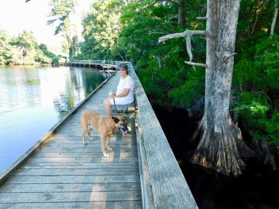 New Bern, Carolina del Norte: On the dock