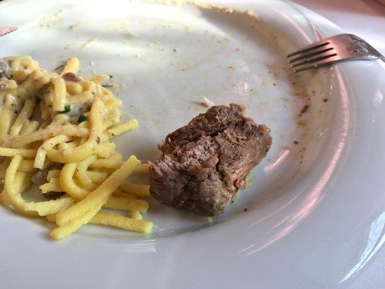 Kallstadt, Alemania: Gecremeerde biefstuk - zonde en veel zeggend.