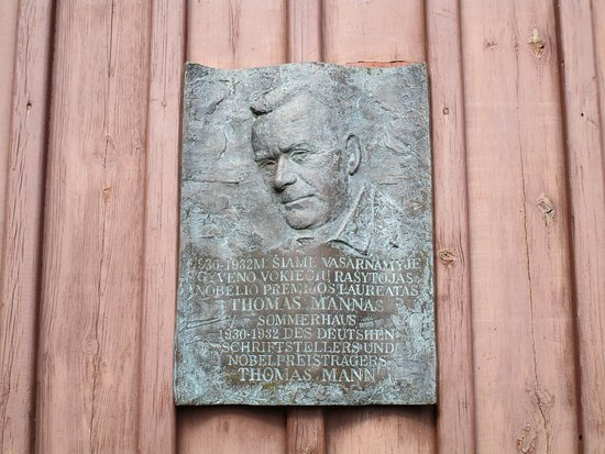 Nida, Lithuania: A plaque – on at least one of his houses