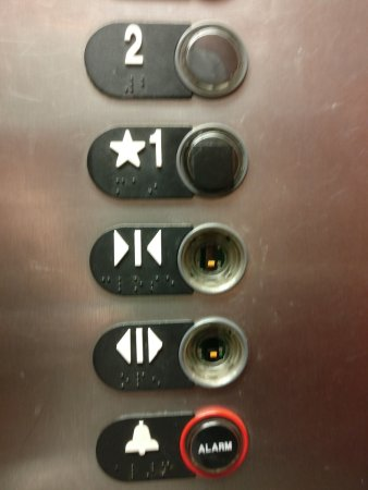 Athens, GA: Elevator buttons missing