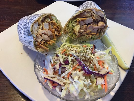 Prior Lake, MN: Thai Chicken Wrap with cole slaw