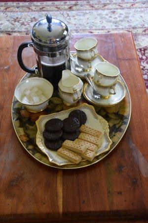 Powis House : Koffie en koekjes ter verwelkoming