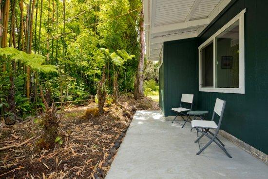 Volcano, HI: Bamboo room's patio