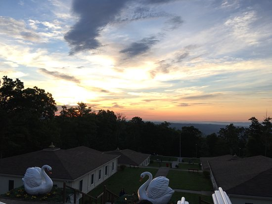 Art of Living Retreat Center : sunrise from main meditation hall