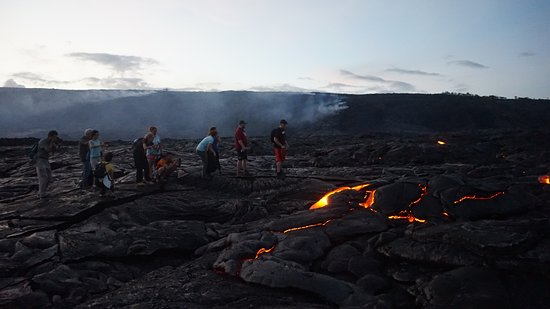 Keaau, HI: Our group by the lava