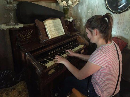 Preston, MN: Playing the organ.