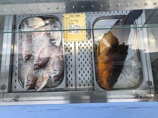 Agios Georgios, Greece: Απίστευτα θέα με φρέσκα ψάρια!