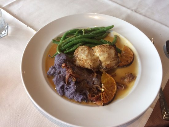Steve & Rocky's: Monkfish and purple potatoes