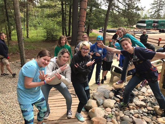 Park Rapids, MN: High wire Adventure! Nothing beats a trip to the Character Challenge! They go off site for chara