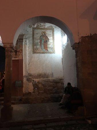 Chinchero, Perú: Paintings on the church walls