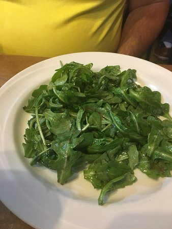 Bluff Dale, TX: wild arugula with balsamic vinaigrette