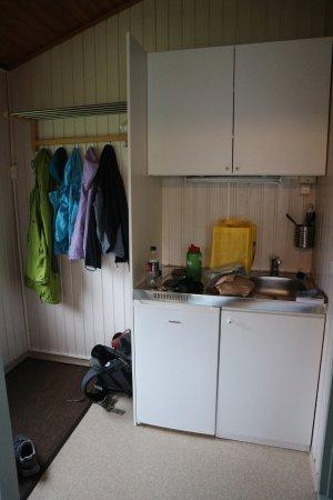 Gesthus Selfoss: Kitchen area.