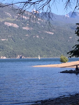 Kaslo, Canada: View from the beach