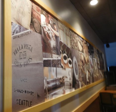 Wall art in the Starbucks - Picture of Starbucks, Bourne - TripAdvisor