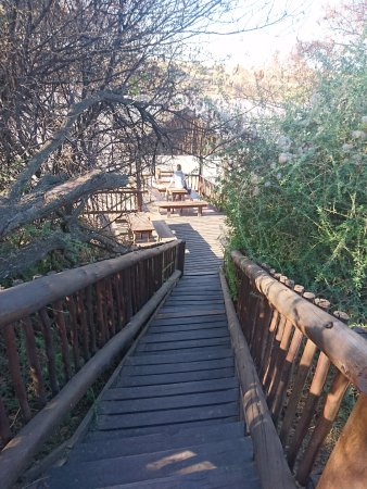 Colesberg, South Africa: Steps down to river look-out