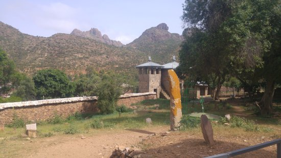 Tigray Region, Ethiopia: Inside view of the wall