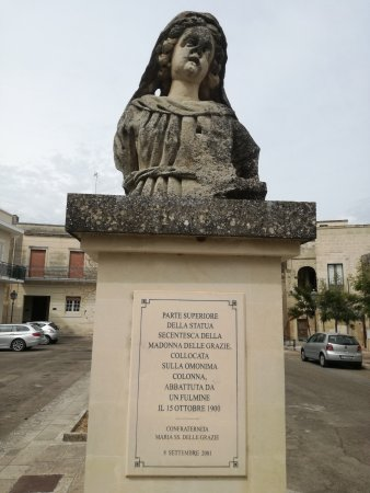 Maglie, Italie : Colonna Madonna delle Grazie
