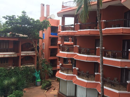 The Baga Marina Beach Resort & Hotel: The Quaint Balconies in all Rooms