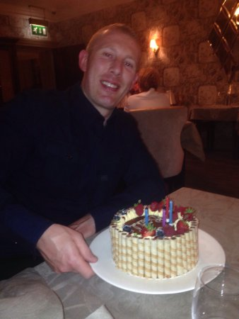 Humshaugh, UK: Birthday cake for young Mitch