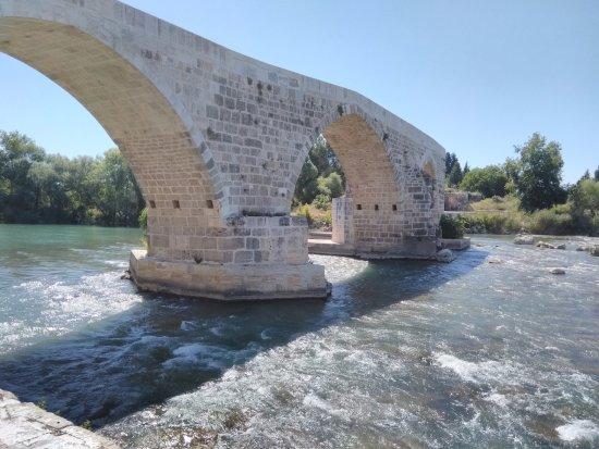 Aspendos Bridge : aspendos koprusu genel bakıs